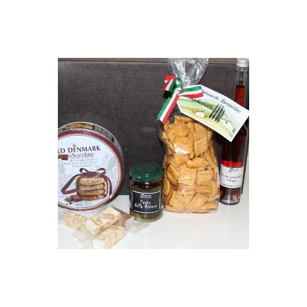 Gaveæske m. likør og småkager