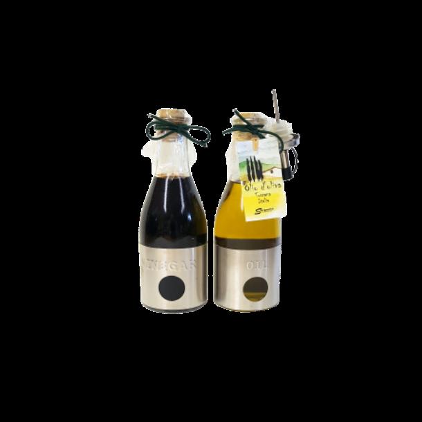 Ekstra jomfru olivenolie og balsamico sæt