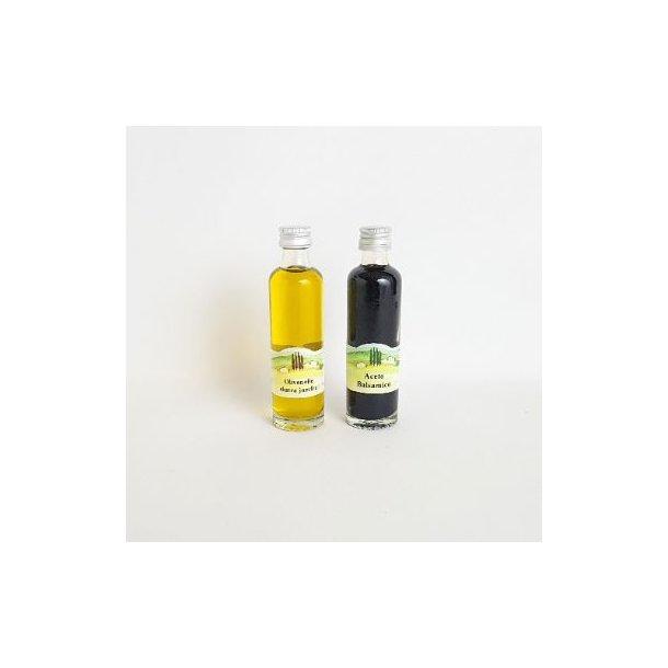 Ekstra jomfru olivenolie og balsamico mini