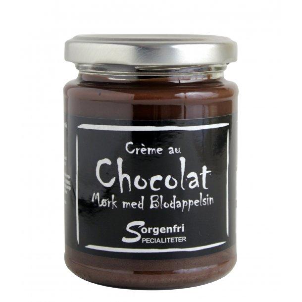 Belgisk chokoladecreme, mørk m. blodappelsin