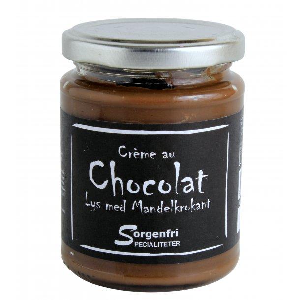 Belgisk chokoladecreme - lys m. rist. mandler