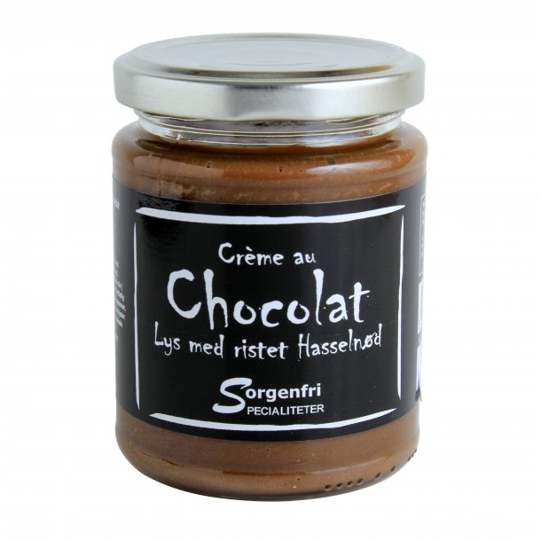 Belgisk chokoladecreme - lys m. rist. hasselnød